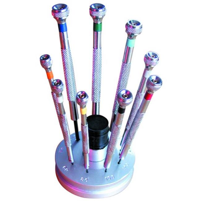Jewelry Supplies 14353 Jeweler Screwdriver with Stand Set of 9 by Jewelry Supplies