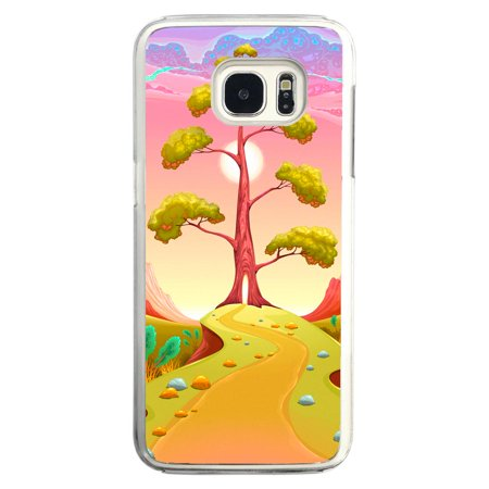 Image Of Pathway Leading To A Tree In A Surreal Pink Landscape Samsung Galaxy S7 Clear Phone Case