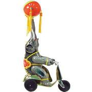 Alexander Taron Collectible Decorative Tin Elephant on Scooter
