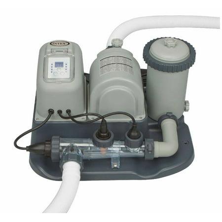 Saltwater System - Intex 28673EG Krystal Clear Cartridge Filter Pump & Saltwater System with E.C.O.