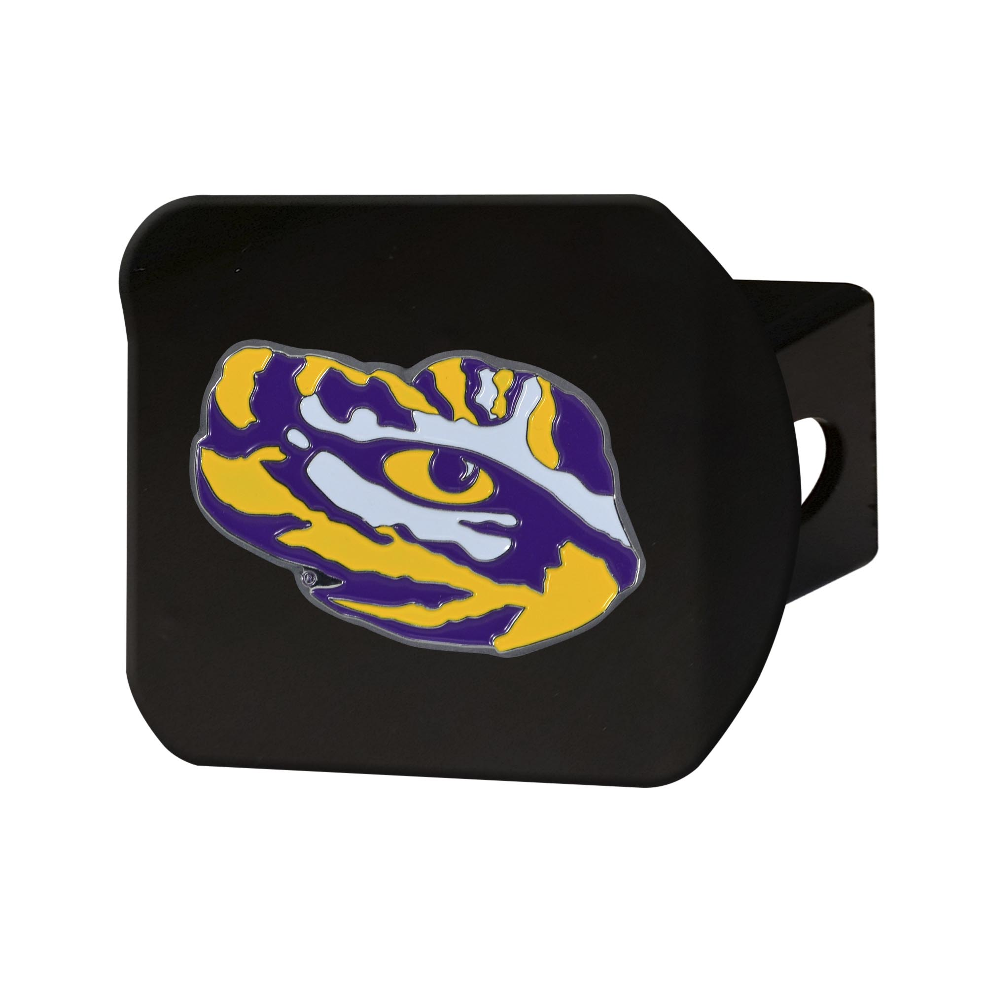 "Louisiana State University Color Hitch Black 3.4""x4"""