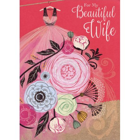 Designer Greetings Pink Dresulti Colored Flowers Wife Valentine S Day Card
