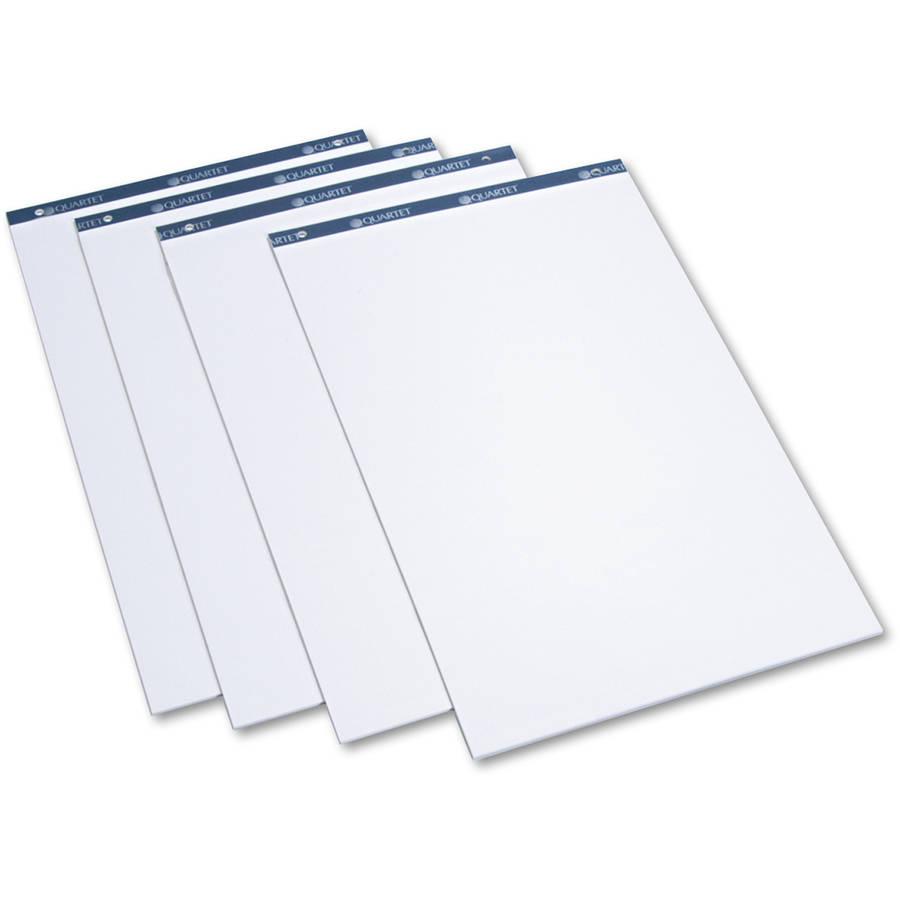 "Quartet Conference Cabinet Flipchart Pad, Plain, 21"" x 33.7"", 50-Sheet, 4/Carton"