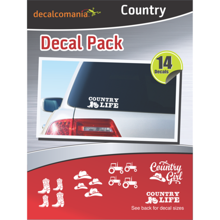 Country Stickers Car Stickers Value Kit