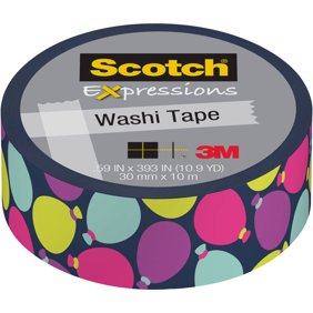3m scotch expressions masking tape blue quatrefoil