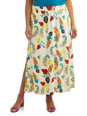 cb286fab5cc8c Product Image Women's Plus Size Super Soft Elastic Waistband Knit Maxi Skirt