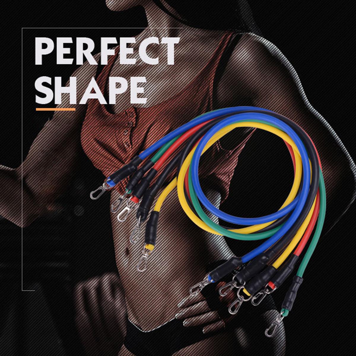 17pcs Pull Rope Fitness Exercises Resistance Band Set Training Yoga Band Gym