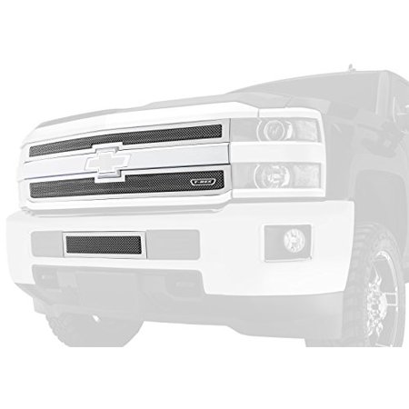 - TRex Grilles 51106 Upper Class Small Mesh Steel Black Finish Grille Overlay for Chevrolet Silverado 2500HD 3500