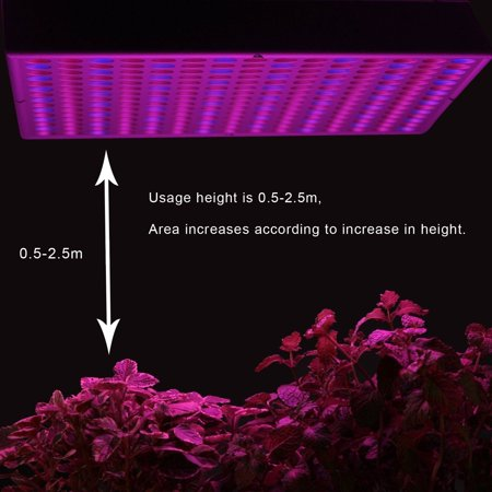 Ktaxon 225 LED Grow Light Hydroponic Lamp, Blue & Red, 14 Watts Quad-band Plant Light for greenhouse medical and indoor. - image 1 of 6
