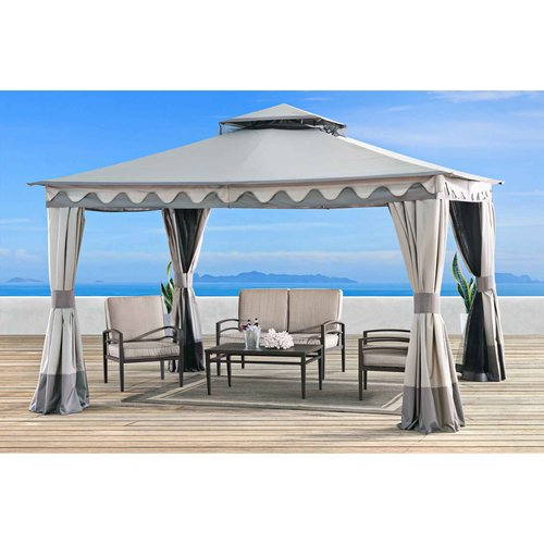 Sunjoy 110101011 Elgin Gazebo C Straight Top