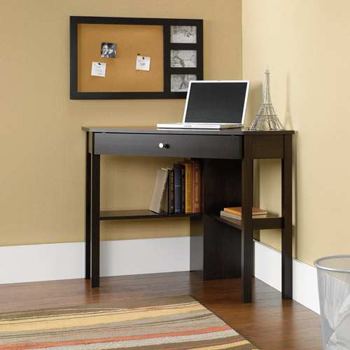 Elegant Sauder Beginnings Corner Computer Desk, Cinnamon Cherry