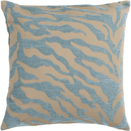 Dan River Soft Pillow (Art of Knot River Hand Crafted Zippy Zebra Decorative Pillow with Poly Filler,)