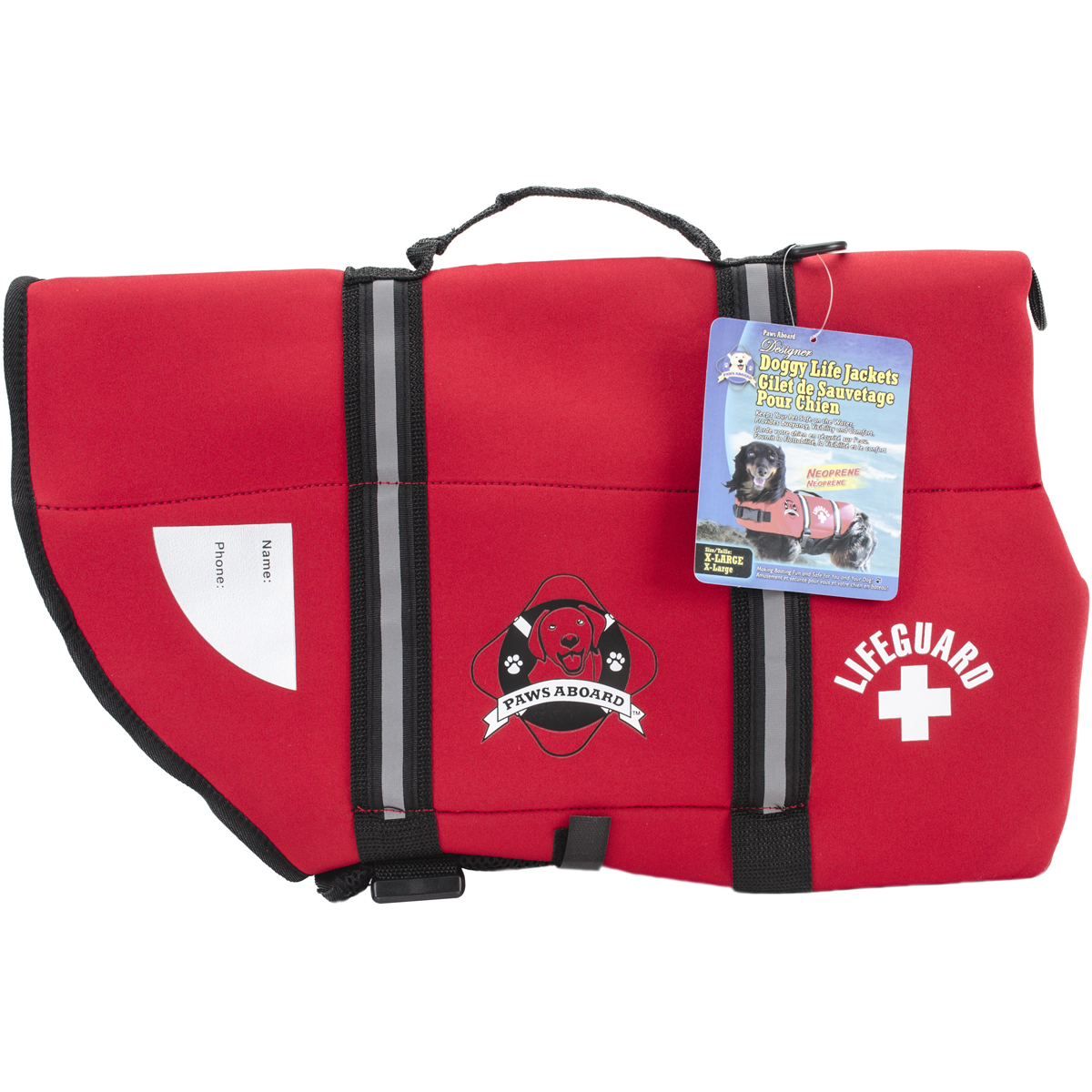 Paws Aboard Neoprene Doggy Life Jacket Extra Large-Red