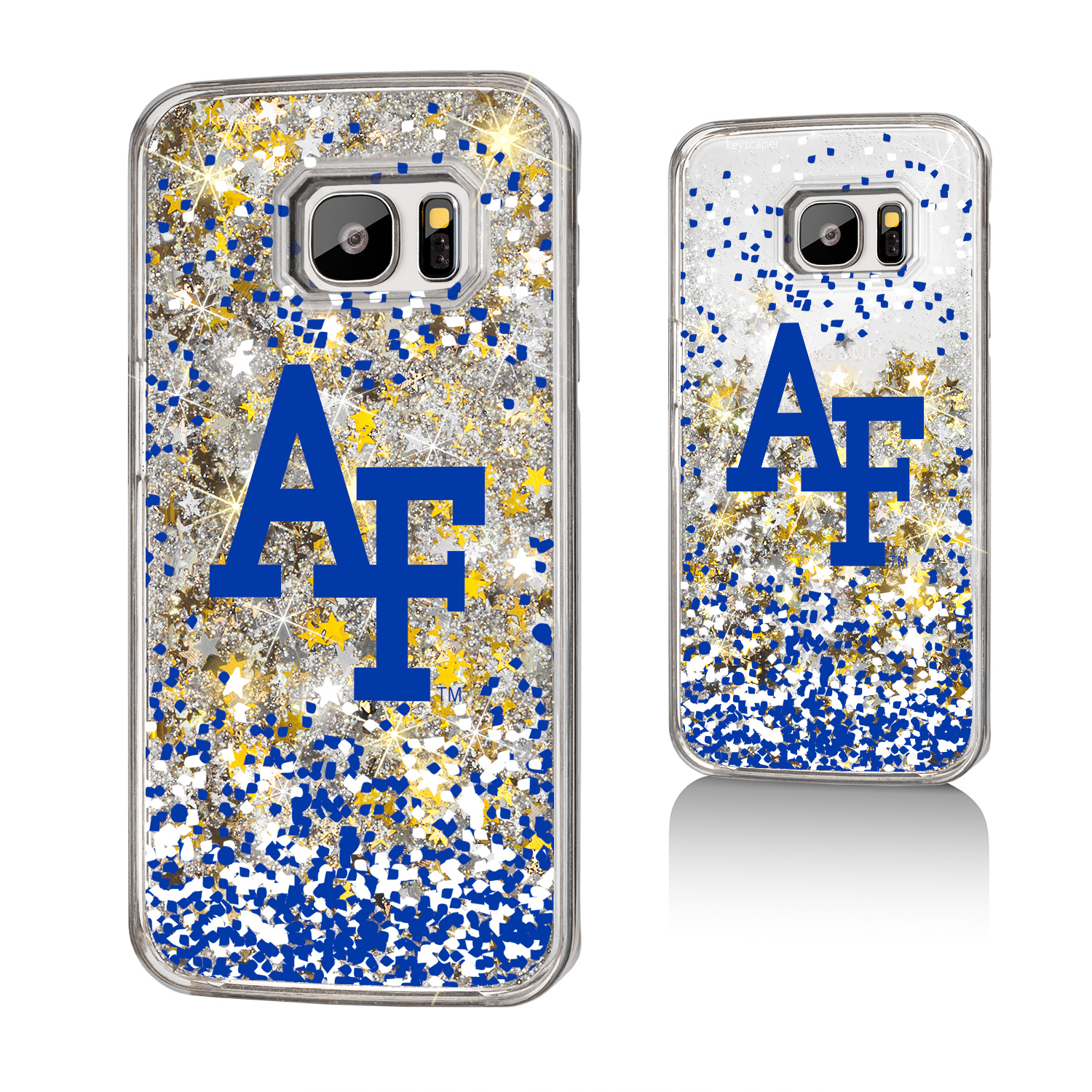 AF Air Force Academy Falcons Confetti Glitter Case for Galaxy S7