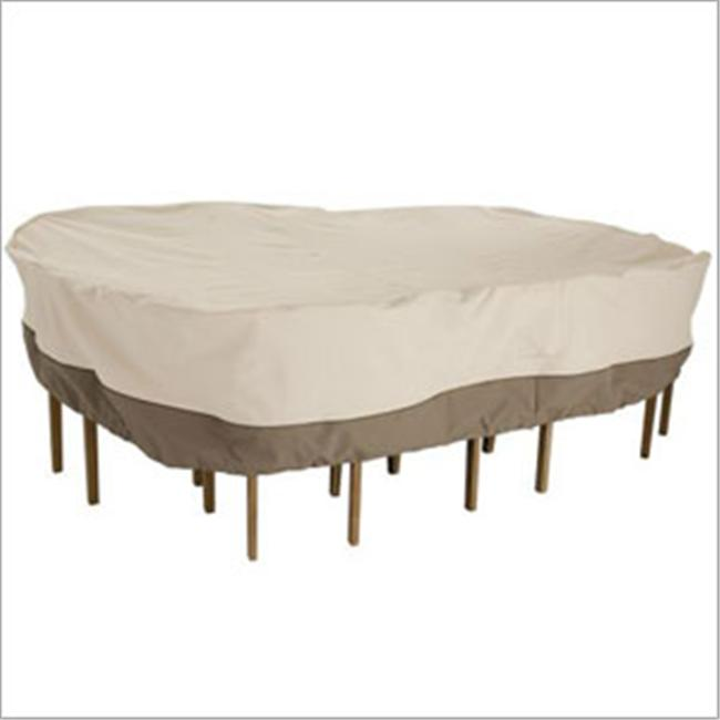 Patio Table Chair Round Cover - Tan Trim- Large
