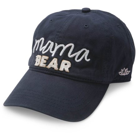 Pavilion - Mama Bear Navy Blue Adjustable Snapback Baseball - Navy Blue Adjustable Hat