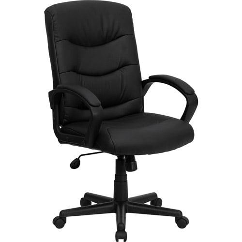flash furniture mid-back office chair, black - walmart