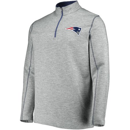 6719945ac18 Men's Majestic Heathered Gray New England Patriots Malt Quarter-Zip  Pullover Jacket - Walmart.com