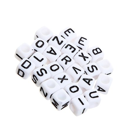 Ustyle 290pcs Acrylic Beads Alphabet Letters Design Necklace Wristband DIY Cubes Jewelry Making Accessories - image 4 of 6