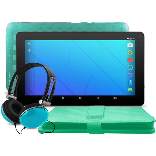 "Click here to buy Ematic 10"" 16GB Tablet Android 5.1 (Lollipop) with Keyboard Folio Case and Headphones by Ematic."