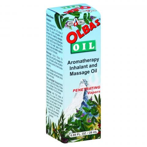 Olbas Oil Aromatherapy Inhalant and Massage Oil, 0.95 FL OZ