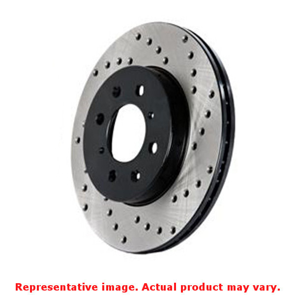 StopTech Brake Rotor - SportStop Drilled 128.58007R Rear Right Fits:DODGE 2011
