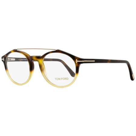 Tom Ford Oval Eyeglasses TF5455 056 Size: 48mm Havana/Amber