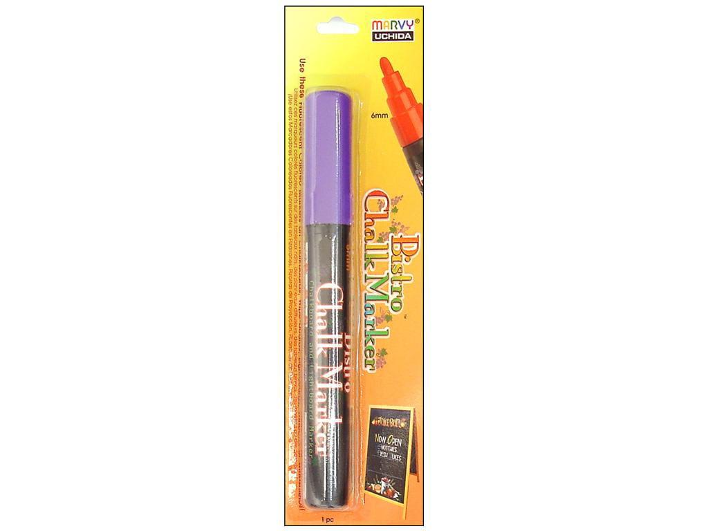 Uchida 480-C-F8 Marvy Broad Point Tip Fluorescent Bistro Chalk Marker Fluorescent Violet