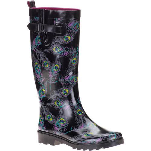 Unique Women39s Plaid Print Rain Boots  Walmartcom