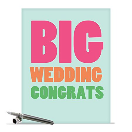 - J2727WDG Jumbo Funny Wedding Card: 'Big Wedding Congratulations' with Envelope (Large Size: 8.5