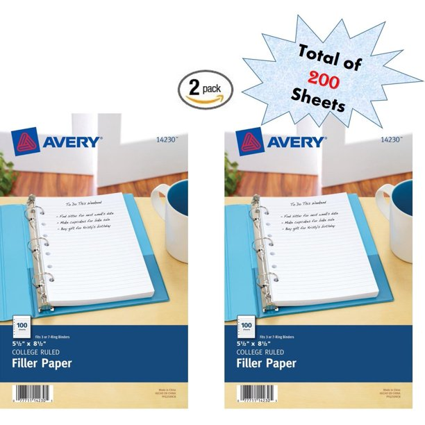 Mini Filler Paper, 5.5 X 8.5 Inches, 200 Sheets (14230