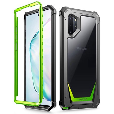 Poetic Galaxy Note 10 Plus Rugged Clear Case, Full-Body Hybrid Bumper Cover, Support Wireless Charging, Without Built-in-Screen Protector, Guardian Series, Case for Samsung Galaxy Note 10 Plus ,