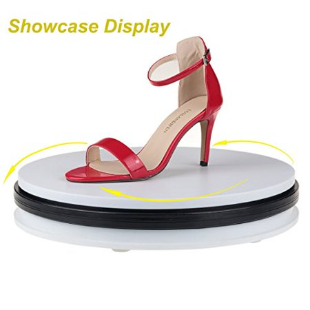 White Rotating Display Stand Monodeal Motorized Rotating
