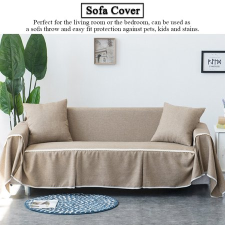 Zerone Imitation Linen Comfortable Sofa Couch Cover Chair Throw Mat Elastic  Furniture Protector Slipcover,Sofa Cover