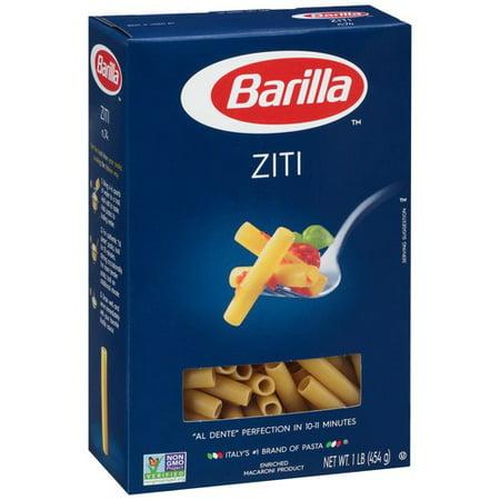 Barilla Ziti Pasta, 1 lb - Walmart.com