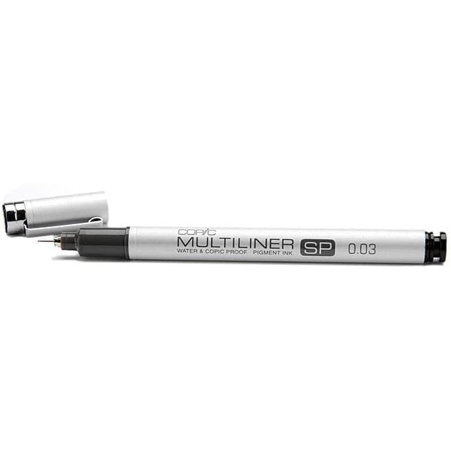 Black Ink Aluminum Copic Multiliner SP Pen 0.7mm