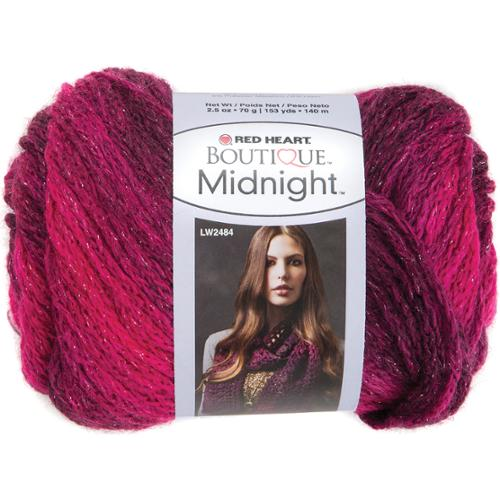 Red Heart Boutique Midnight Yarn-Radiant