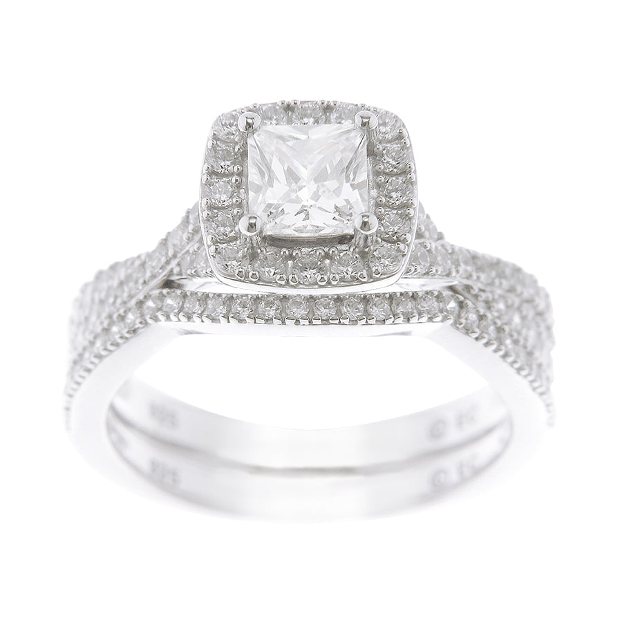 Believe by Brilliance 136 Carat TGW Princess Cut Simulated