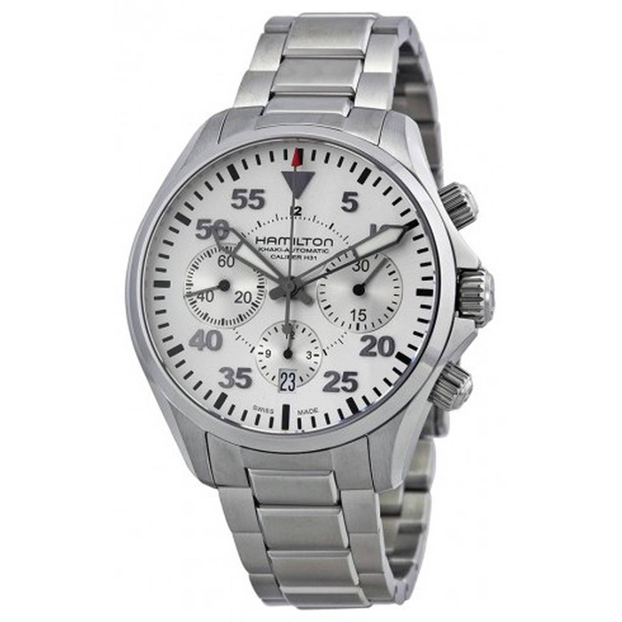 Hamilton Khaki Pilot Automatic Chronograph Mens Watch H64666155 by Hamilton