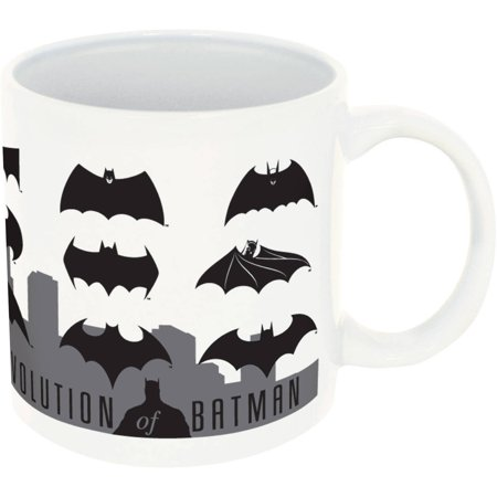 DC Comics Batman Evolution of Batman Logos 20-Ounce Ceramic Mug