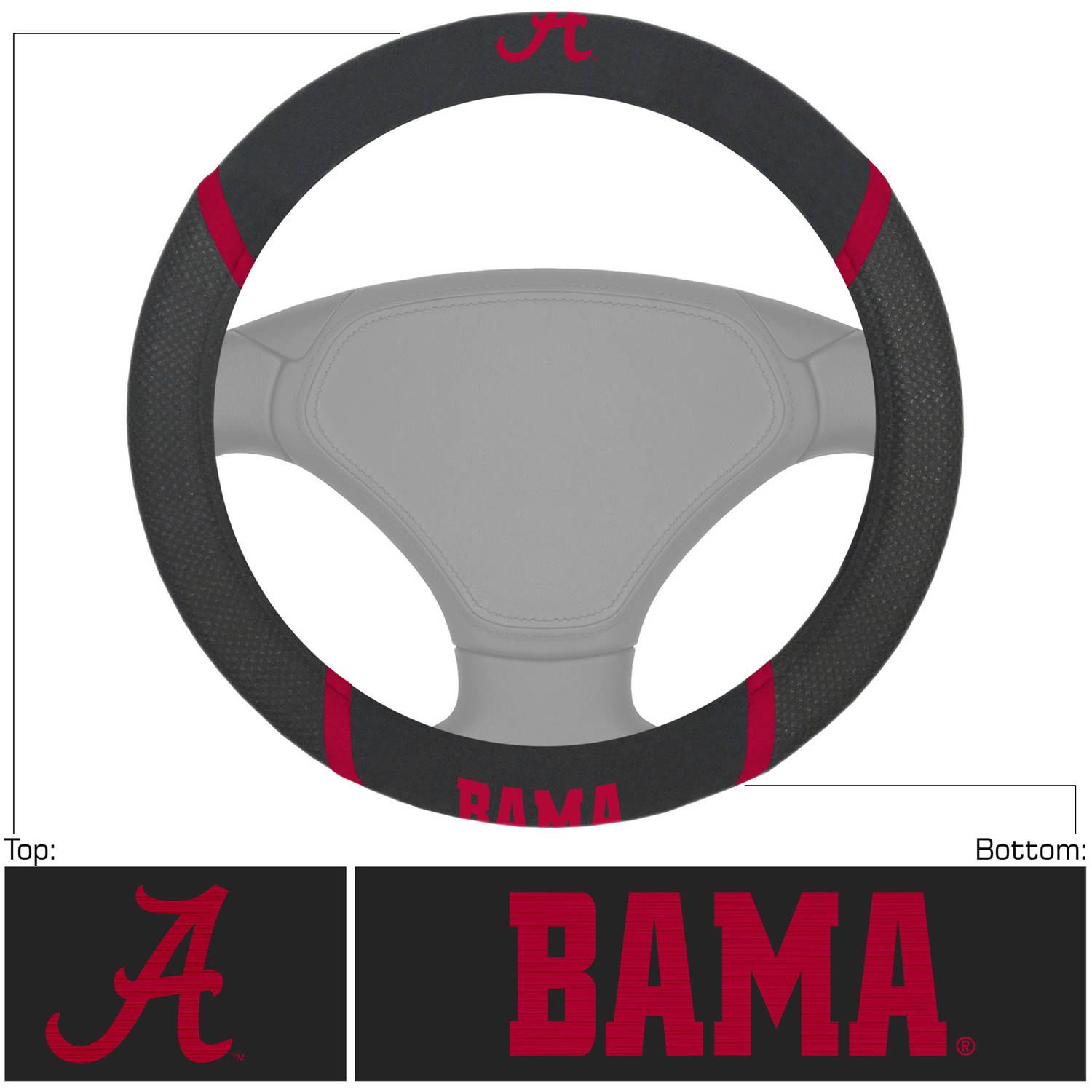 University of Alabama Steering Wheel Cover