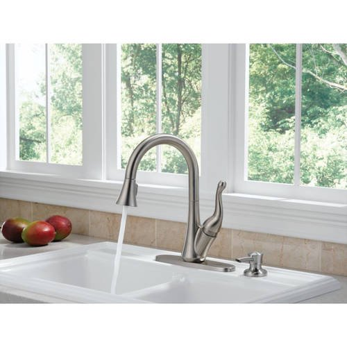Delta 16968-SSSD-DST Talbott Kitchen Faucet with Pullout Spray and ...