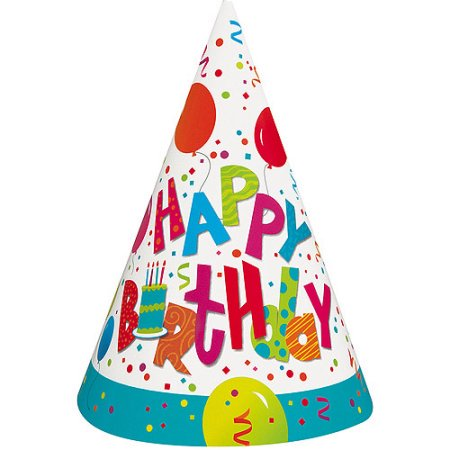 (3 Pack) Birthday Jamboree Party Hats, 8-Count - Plain Birthday Hats