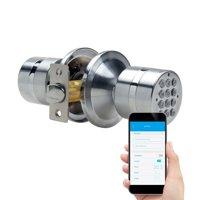 Easy to Install TurboLock TL-99 Smart Door Lock for Keyless Entry & Live Monitoring  Send/Delete eKeys w/ App; Weatherproof (Silver)