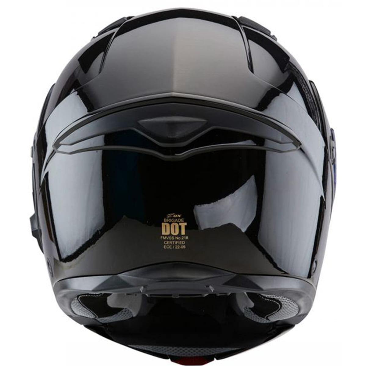 d8082a03 Zox Brigade SVS Modular Motorcycle Helmet Gloss Black - Walmart.com