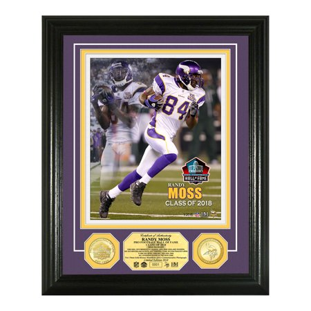 "Randy Moss Minnesota Vikings Highland Mint 2018 Pro Football Hall of Fame Induction 13"" x 16"" Bronze Coin Photo Mint - No Size"