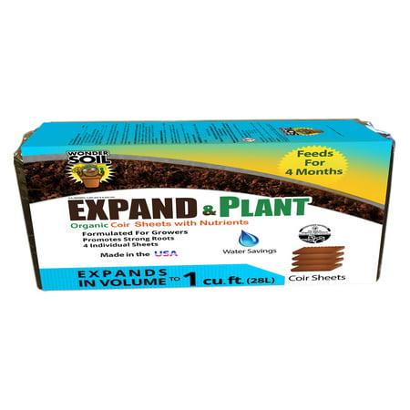 Wonder Soil Expand & Plant Organic Soil Sheets - 4 Pack
