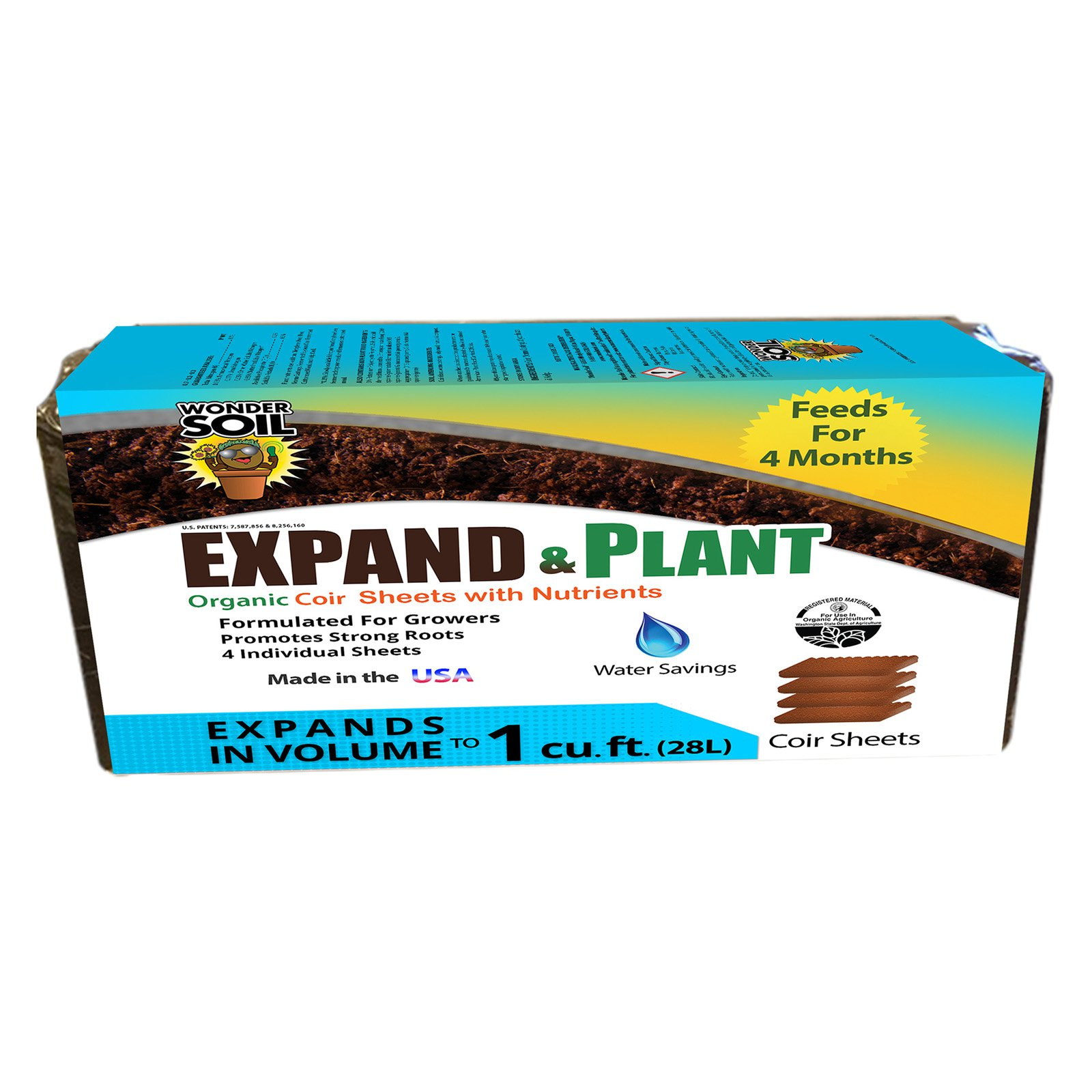 Wonder Soil Expand & Plant Organic Soil Sheets - 4 Pack