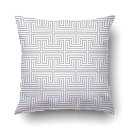 BSDHOME Abstract Geometric Patternby Lines Gray And White Ornament Cushion Covers Pillowcases 16x16 inches - image 1 de 1
