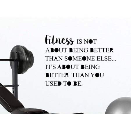Fitness is not about being better than someone else motivational fitness quote wall decal sticker nursery vinyl saying lettering wall art inspirational sign wall decor - Qoutes About Halloween